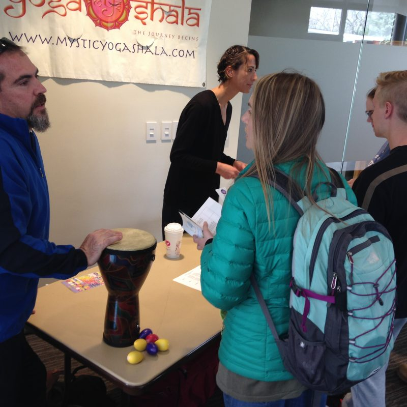 Students and guests at 2017 Wellness Fair