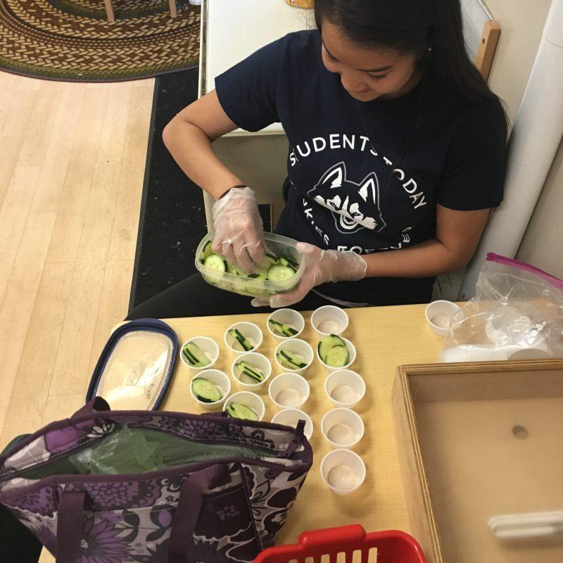 Husky Reads Student Preparing food